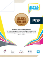 Bowling Park Primary School Mark Award 2016