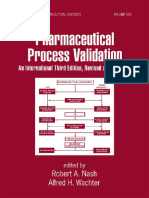 Pharmaceutical Process Validation