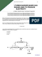 AUTOMOTIVE-TURBOCHARGER BASED GAS TURBINE ENGINE USED TO PRODUCE  ELECTRICITY