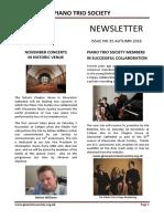 Piano Trio Society - Newsletter Autumn 2016