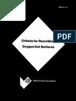 AWS C4.1 1977 Criteria for Describing Oxygen Cut Surfaces