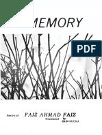 Faiz Ahmad Faiz, Sain Sucha-Memory_ Poetry of Faiz Ahmad Faiz-Vudya Kitaban Forlag (1987).pdf