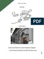 Ilie Pop, Un Secol de Har . Centenarul BCB Golgota București