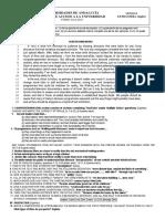Titular Junio Lengua Extranjera (Inglés) Examen A