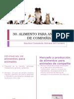 elaboracion de alimento para animales de compañia