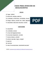 ADOLESCENTES - NEMOTECNIAS