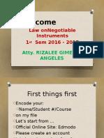 Welcome Slide for Edmodo - NI
