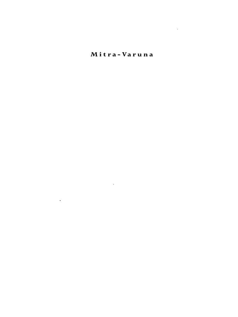Georges Dumezil Mitra Varuna Pdf Religion And Belief Science