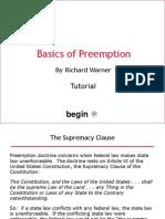 Basics of Preemption