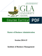 9 - MBA Course Outline 2014-15