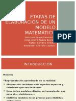 Etapas de Elaboración de Un Modelo Matemático
