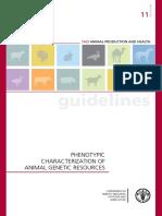 PHENOTYPIC CHARACTERIZATION OF ANIMAL GENETIC RESOURCES