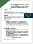 summary notes - unit three