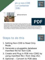 Plugin Non-CDB DB to CDB