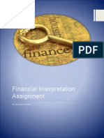 Financial Interpretation Assignment