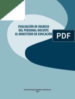 Evaluacion Ingreso Personal Docente Ministerio Educacion