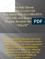 Proof of why ALI was the rightful successor or  Imam