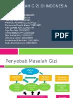 Permasalahan Gizi Di Indonesia