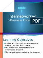 Topic 7 - Internetwork E-Business Enterprise