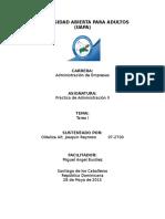 Practica Administrativa II, Tarea i
