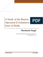 323 Study of the Battery Operated Erickshaws in the State of Delhi Shashank Singh