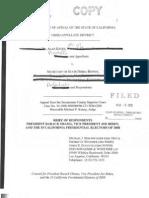 2010-03-08 Keyes v Bowen Appellee Obama Brief (Corrected)