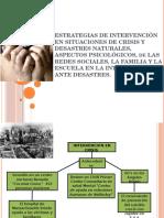 Intervencion en Crisis y Desastres Naturales