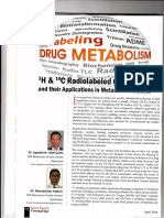 H, C Radiolabeled Compounds and Their Applications in Metabolism Study