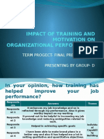 Impact of Training and Motivation on Organizational Performance