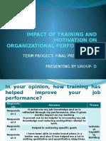 Impact of Training and Motivation on Organizational Performance