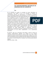 Agentes Antimicrobianos Naturales Informe