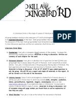 Mockingbird Literature Circle Info Packet