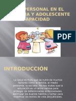 Higiene Personal en El Niño, Niña y Adolescente