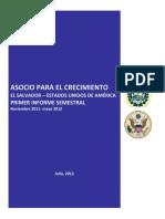 Asocio Para El Crecimiento - Primer Informe Semestral 2012