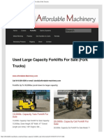 Used Large Capacity Forklifts for Sale 11-16
