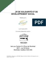 Chantier de Solidarite et de Developpement Social
