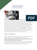 Cara Mengganti Oli Motor Yang Benar