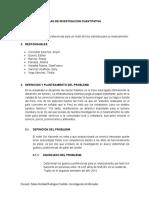 Modelo Plan de Investigación Cuantitativa Del Hotel