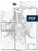 Unhallowed Metropolis Character Sheet