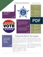 Social Studies Department Quarter I Newsletter
