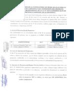 Acta de evaluación de la convocatoria de fecha 28.10.16 para la contratación de camioneta para supervisión del proyecto