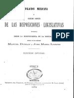 Ley Organica Amparo 1869