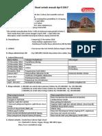 Informasi Pendaftaran Untuk April 2017