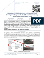 Utilization of GPS Technology to Control Regional Development Project with the Efficient Use of Energy Consumption - Based Smartphone