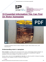 19 Essential Information You Can Find on Motor Nameplate _ EEP