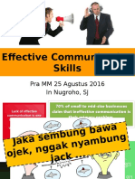 Effective Communication Skills Gasal 2016 2017