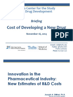 Tufts CSDD Briefing on RD Cost Study - Nov 18, 2014.