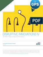 Disruptive Innovations IV