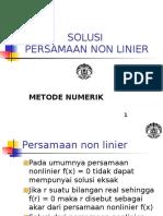 Metnum 2014 - 3. Solusi Non Linier 2016