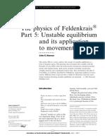 Feldenkrais Unstable Equilibrium
